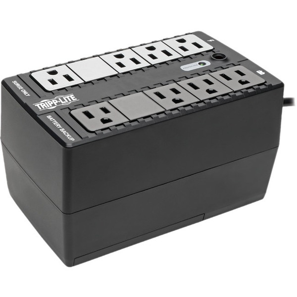 450Va 255W Ups Desktop Battery Back Up Compact 120V 8 Outlets By Tripp