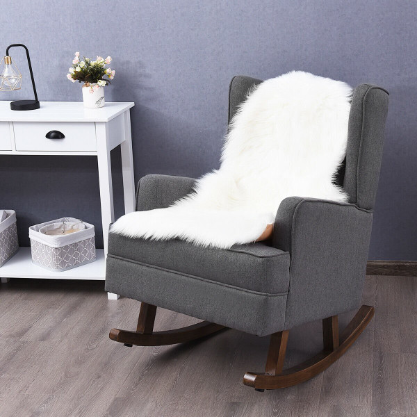 2 In 1 Tufted Rocking Chair-Gray HW61849GR+