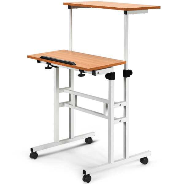 2 In 1 Height Adjustable Sit Standing Computer Desk HW61850