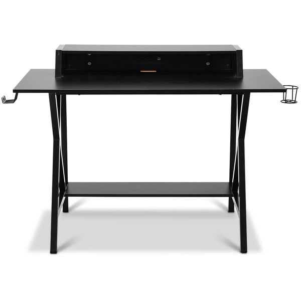 All-In-One Professional Gaming Desk With Cup Headphone Holder HW61866