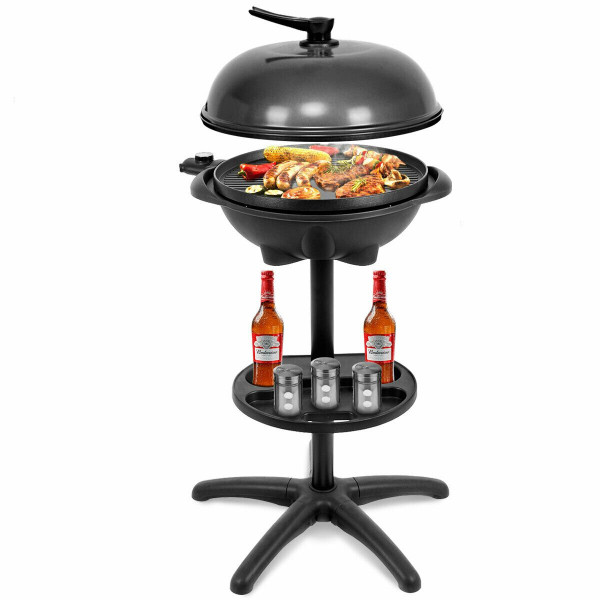 1350 W Outdoor Electric Bbq Grill With Removable Stand KC42178