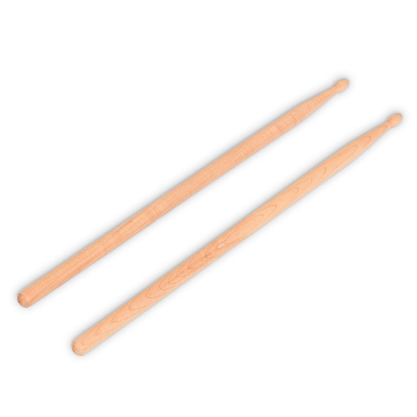 1 Pair 2B Maple Wood Drum Sticks With Bag MU10032 - (Pack Of 3)
