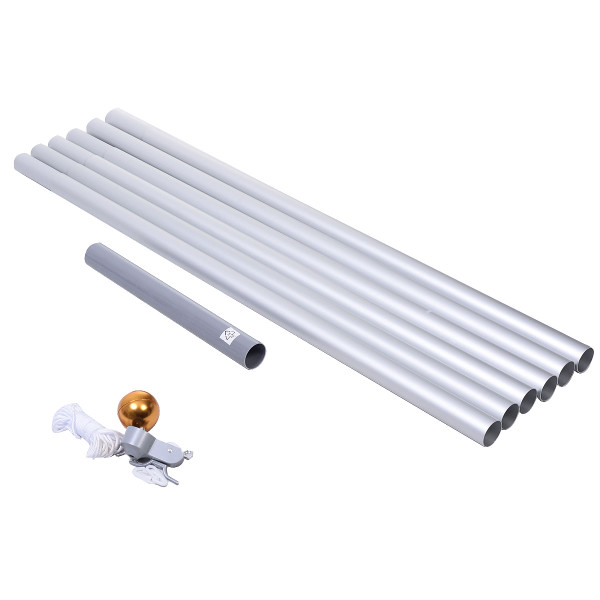 25 Ft Aluminum Sectional Flagpole Kit With Pole And American Flag OP2370