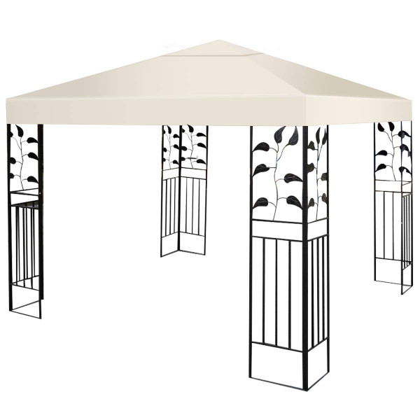 10' X 10' 1-Tier Or 2-Tier 3 Colors Patio Canopy Top Replacement Cover-1 Tier Beige OP2630BE
