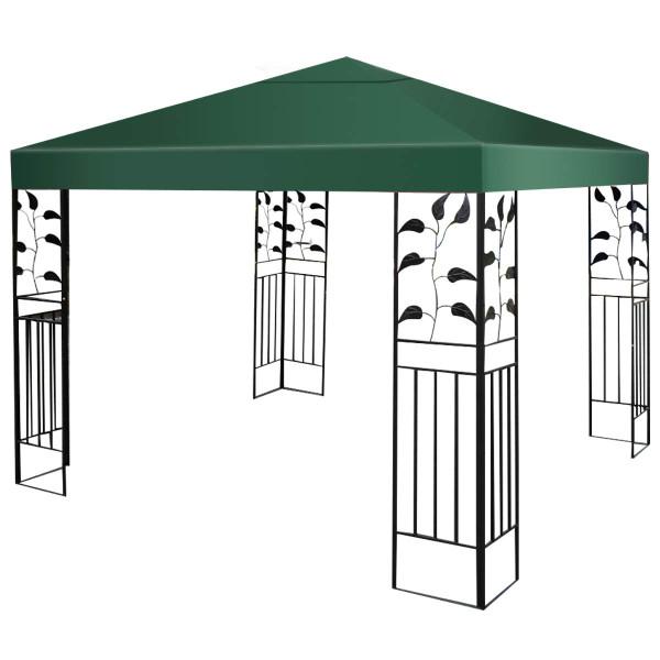 10' X 10' 1-Tier Or 2-Tier 3 Colors Patio Canopy Top Replacement Cover-1 Tier Green OP2630DGN