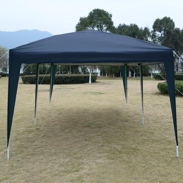 10' X 20' Ez Pop Up Folding Wedding Party Tent Cross-Bar-Blue OP2825BL