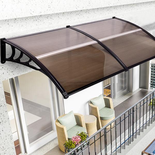 "80"" X 40"" Outdoorwindow Awning Door Polycarbonate Canopy-Brown OP3126BNBK"