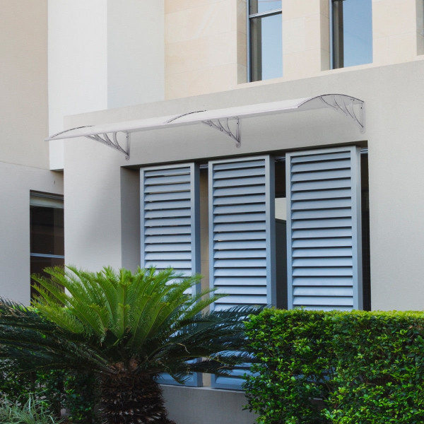 """80"""" X 40"""" Outdoorwindow Awning Door Polycarbonate Canopy-Gray OP3126TRGR"""