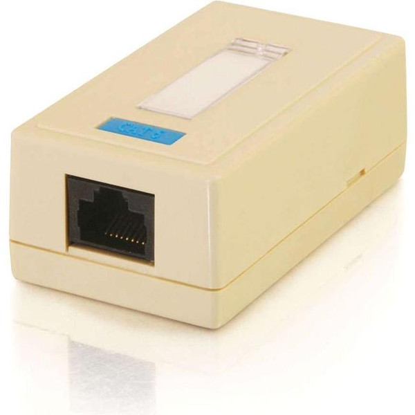 1-Port Cat5E Surface Mount Box - White By C2G