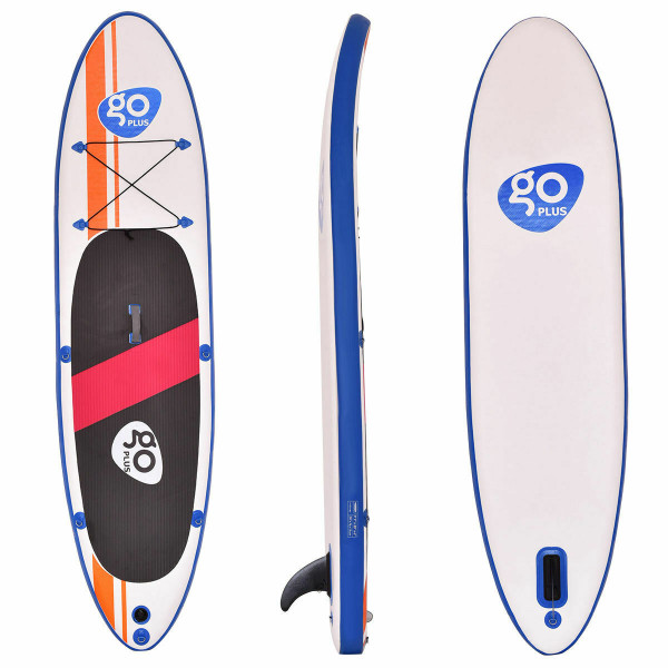 Goplus 10' Inflatable Standup Board With Adjustable Paddle SP35414