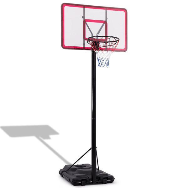 10' Height Adjustable Hoop Stand Basketball Backboard W/ Wheels SP35832