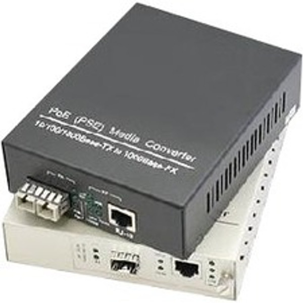 10/100/1000Base-Tx(Rj45) To 1000Base-Sx(St) Mmf 850Nm 550M Poe Media Converter With Eur Standard Power Supply By Addon