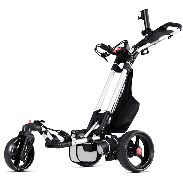 120 W Foldable Electric Golf Push Cart With Umbrella Holder SP36453