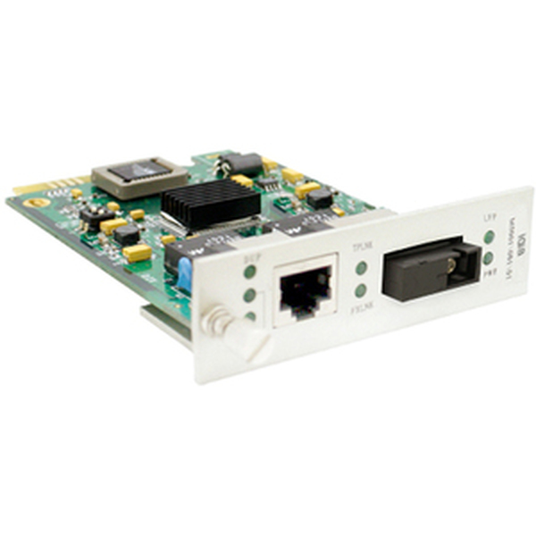 10/100Base-Tx(Rj-45) To 100Base-Bxd(Sc) Smf 1310Nmtx/1550Nmrx 20Km Media Converter Card For Our Rack Or Standalone Systems By Addon