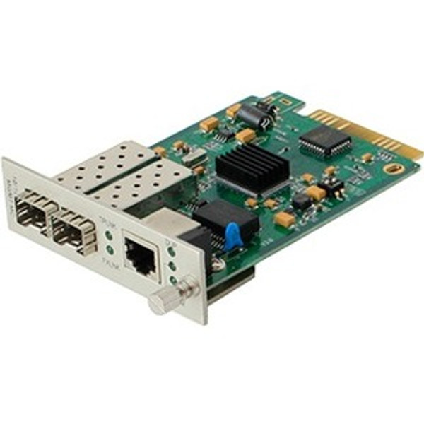 1 10/100/1000Base-Tx(Rj-45) To 2 Open Sfp Ports With Failover Protection Media Converter By Addon
