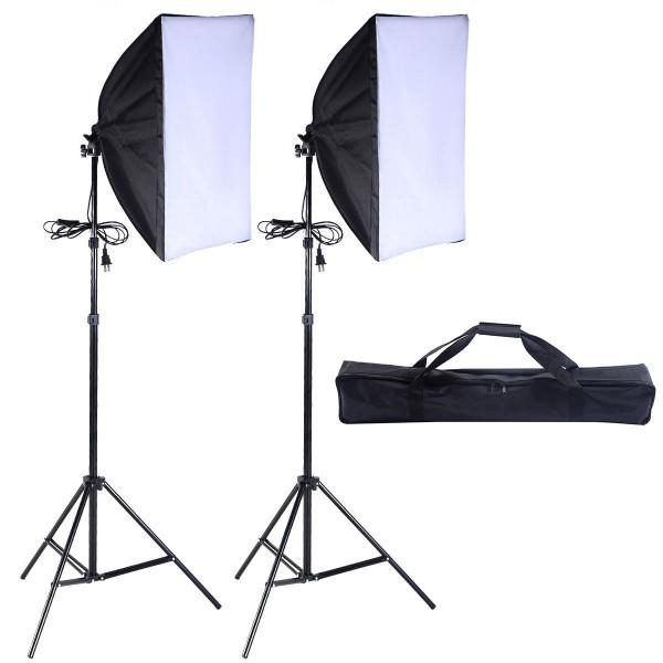 2 Pcs Lighting Softbox Stand Photography Equipment Light Kit ST35637