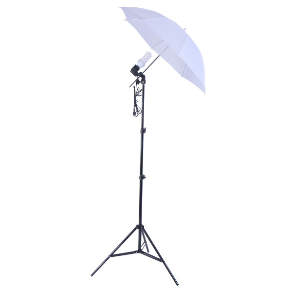Studio 45W Bulb Lighting Umbrella Photography Stand Kit ST36291