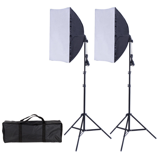 2 X 85W Continuous Bulb Light Softbox Photography Lighting Kit ST36292