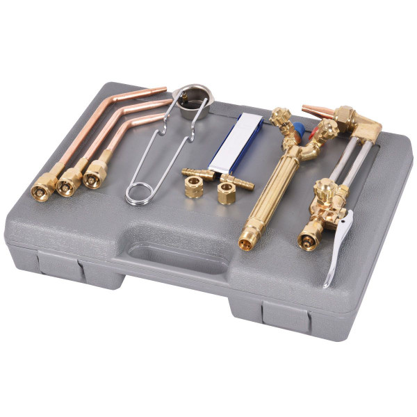 10 Pcs Gas Welding & Cutting Kit Torch Acetylene Welder Tool Set With Case TL32741