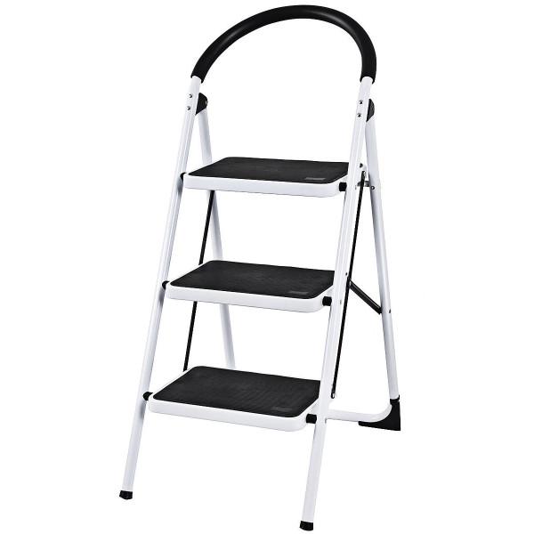 Heavy Duty Industrial Lightweight Folding Stool 3 Step Ladder TL32764