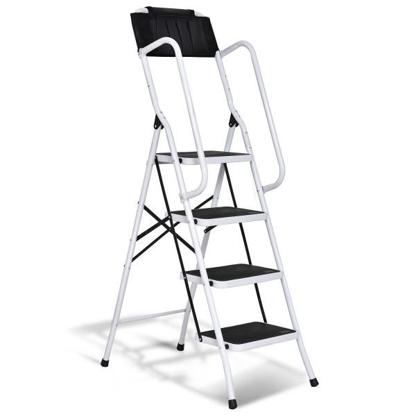 2-In-1 Folding Non-Slip 4 Step Ladder TL32827