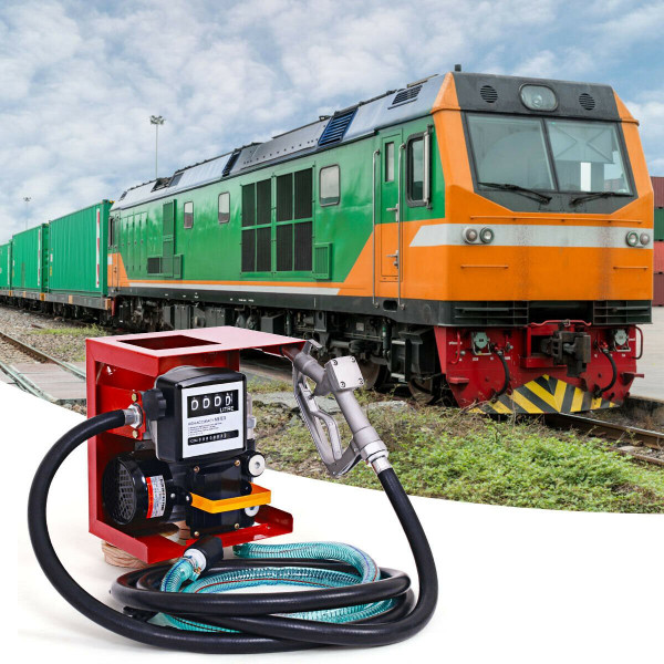 110V Electric Diesel Oil Pump With Meter + 13' Hose And Nozzle TL32828