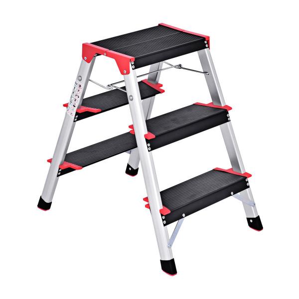 3 Step Aluminum Lightweight Ladder Folding Non-Slip Stool TL33007