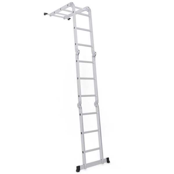 12.5Ft En131 Multi Purpose Step Aluminum Folding Scaffold Ladder TL33707