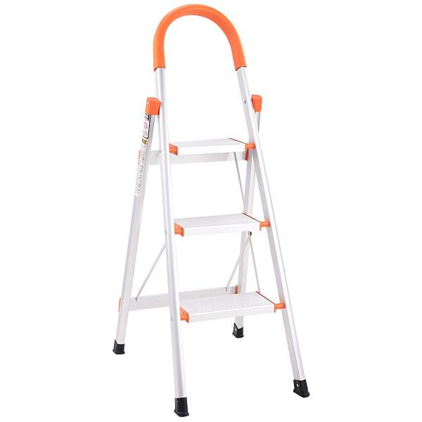 Non-Slip 3 Step Aluminum Ladder Folding Platform Stool TL33844