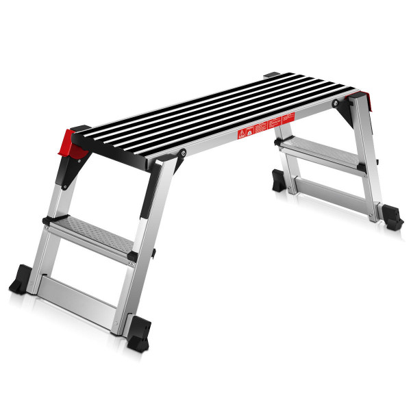 330 Lbs Aluminum Folding Non-Slip Drywall Step Stool Ladder TL34075
