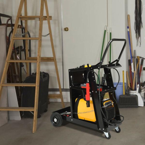 3-Tier Welding Cart Plasma Cutter Welder Mig Tig Arc Universal TL35083