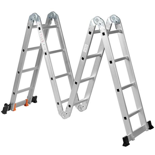 15.5' 16-Step Multi Purpose Aluminum Folding Scaffold Ladder TL35127