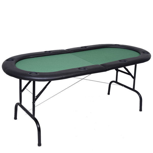 8 Players Texas Holdem Foldable Poker Table TY310280