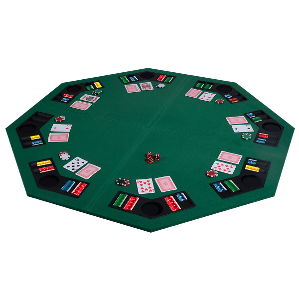 """48"""" 8 Players Octagon Fourfold Poker Table Top TY318693"""