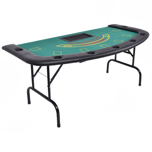 7 Players Texas Holdem Foldable Poker Table TY557945