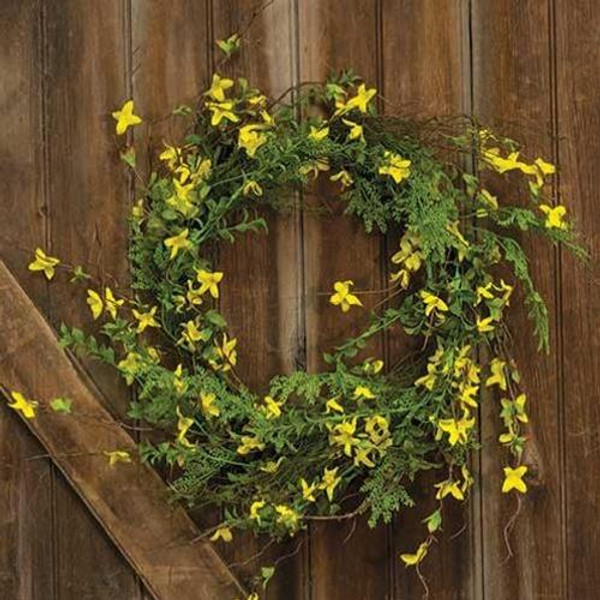 """'+Forsythia Wreath 22"""" FBR73745 By CWI Gifts"""
