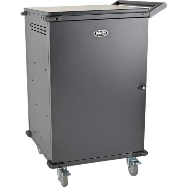 45-Port Ac Charging Cart Storage Station Chromebook Laptop Tablet Black By Tripp
