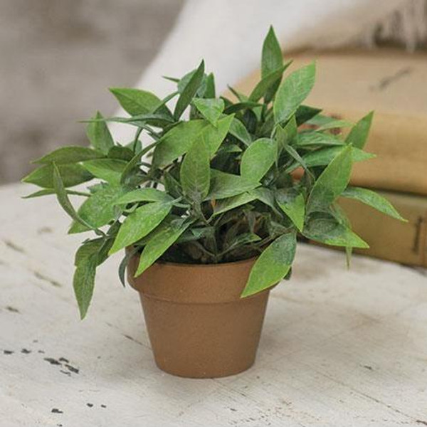 """'+Gatehouse Herb Pot #3 6"""" FRA5082 By CWI Gifts"""