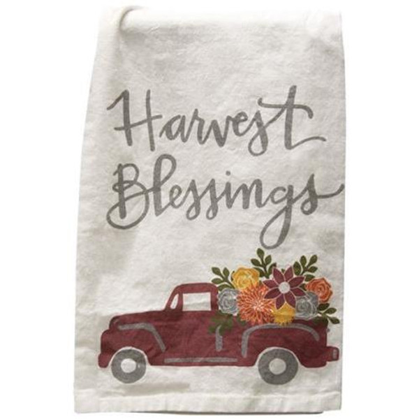 Harvest Blessings Dish Towel G103698 By CWI Gifts