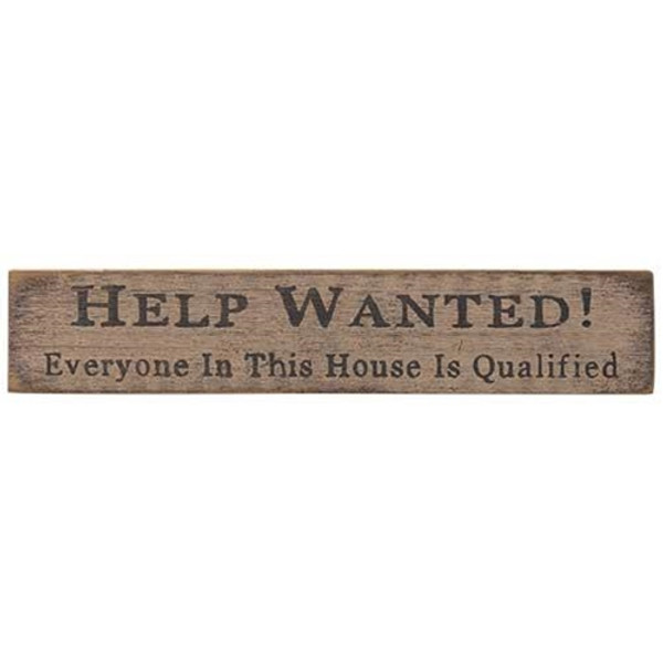 Help Wanted Sign White G12704W By CWI Gifts