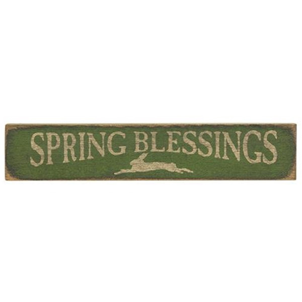 Spring Blessings Sign Green G12714GR By CWI Gifts