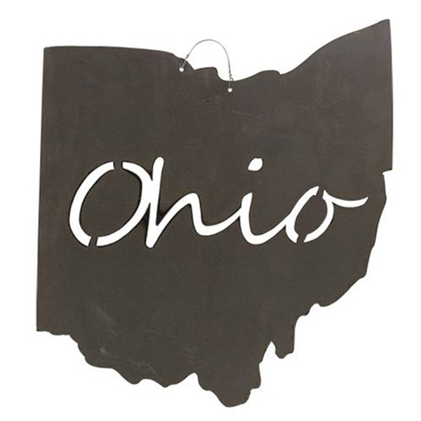 Metal Ohio With Ohio Cutout G18138 By CWI Gifts