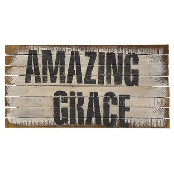 Amazing Grace Lath Sign G19106 By CWI Gifts