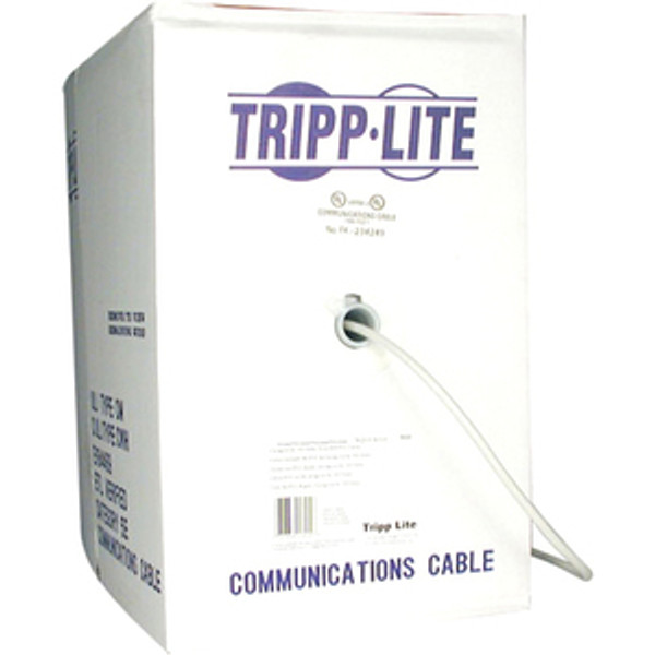 1000Ft Cat5E Cat5 350Mhz Bulk Solid-Core Pvc Outdoor Cable Gray 1000' By Tripp