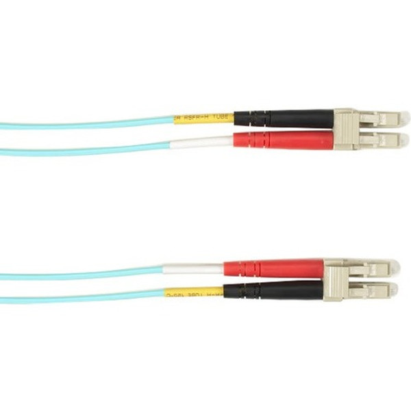 3-M, Lc-Lc, 50-Micron, Multimode, Pvc, Aqua Fiber Optic Cable By Black Box