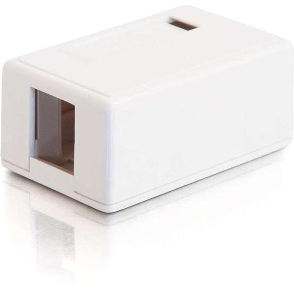 1-Port Keystone Jack Surface Mount Box - White By C2G