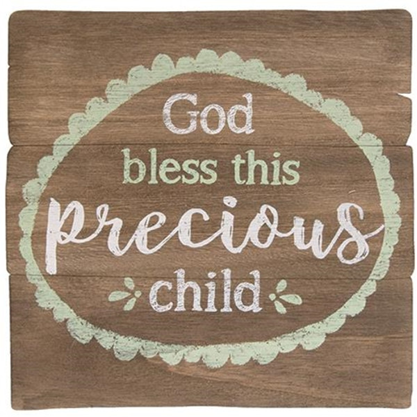 God Bless This Child Easel G34302 By CWI Gifts