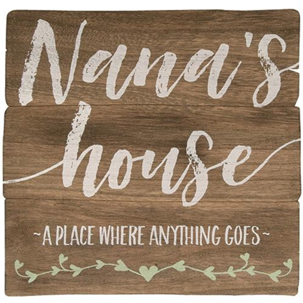 Decorative Nana'S House Easel G34312 By CWI Gifts