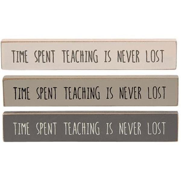 Teach Stoneware Mini Stick 3 Asstd. G34428 By CWI Gifts