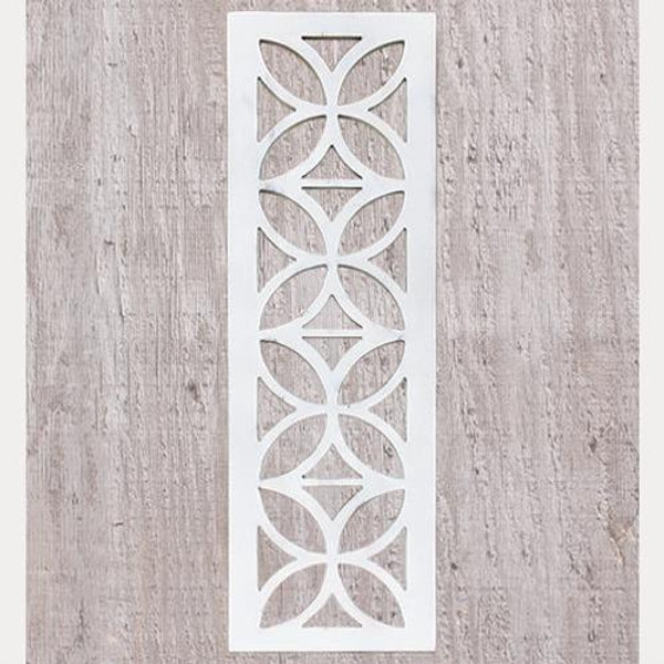Distressed White Architectural Cutout G34558 By CWI Gifts
